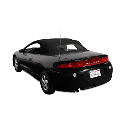 Mitsubishi Eclipse Spyder Convertible Top 96 99 In Stayfast Cloth With  Glass Window, Black