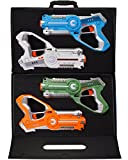 #7: DYNASTY TOYS Laser Tag Set Toys and Carrying Case for Kids Multiplayer 4 Pack