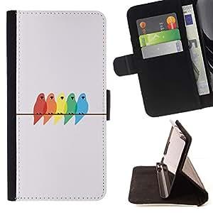 For Samsung Galaxy S3 III i9300 i747 Case , Pastel Color Gris minimalista- la tarjeta de Crédito Slots PU Funda de cuero Monedero caso cubierta de piel