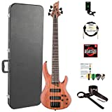 ESP LB1005SEBNS-KIT-2 B Series B-1005SE 5-String Electric Bass Guitar, Natural Satin