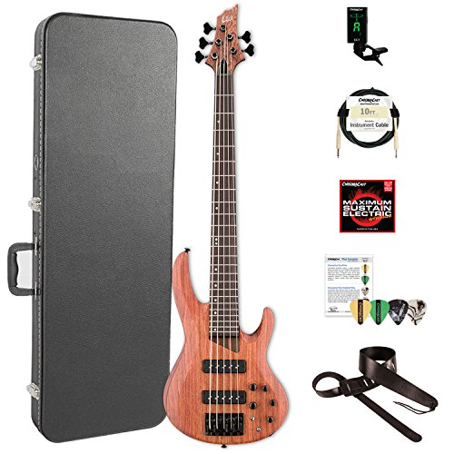 ESP LB1005SEBNS-KIT-2 B Series B-1005SE 5-String Electric Bass Guitar, Natural Satin by ESP
