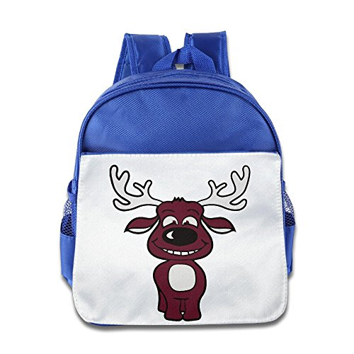 Cute Cartoon Animal Moose Backpack Children School Bag RoyalBlue ()