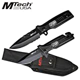 MTECH USA MT-512SF Combo Knife Set 9.25-Inch Overall Fixed 4.75-Inch Closed Folder For Sale