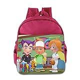 Toddler Kids Handy Manny School Backpack Funny Sayings Children School Bag Pink
