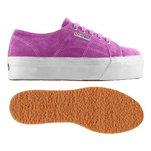 Gymnastique de Beige Suew Chaussures Femme Lilac Superga 2790 BIqqv
