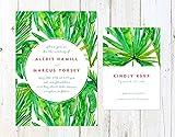 Tropical Wedding Invitation, Destination Wedding Invitation, Palm Trees Wedding Invitation