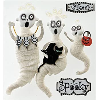Jolees Boutique 50-21558 Dimensional Stickers, Wrapped Ghosts