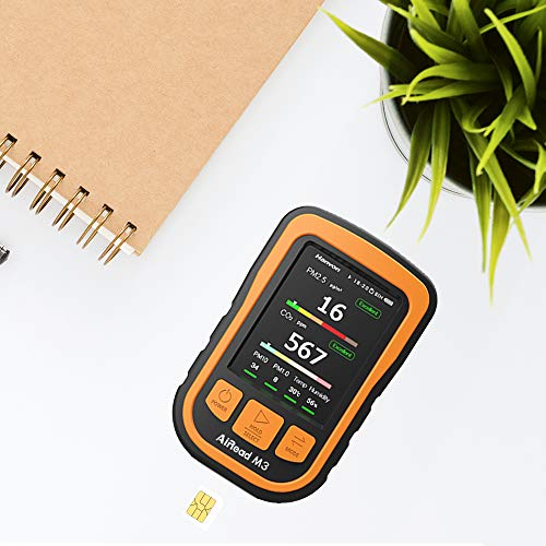 AiRead M3 Industrial Grade Real-Time Air Quality Monitor, PM 2.5/CO2/Temp/Hum Multi Tester High Accuracy Laser Sensor Indoor Air Composition Detector Meter Reader by AiRead (Image #3)
