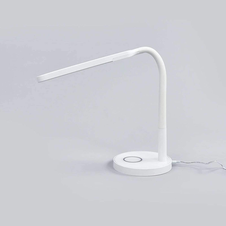 1 luce, A+, lampadina inclusa lampada da scrivania a LED Lampada da tavolo LED Mailycon USB dimmerabile Moderno Studio /& Ufficio di Lindby colore Bianco ad es