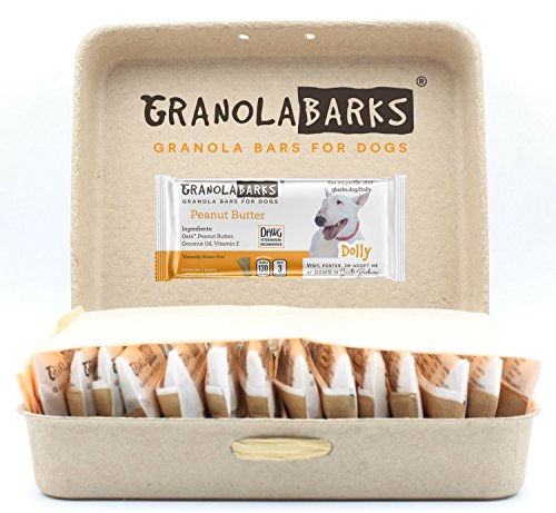 Granola Barks' Dog Treats – Granola Bars for Dogs – 3 Ingredients: Oats, Peanut Butter, Coconut Oil (28 Bars) For Sale