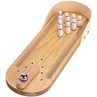 Generic Wooden Mini Desktop Parent-Child Fun Bowling Game Toy Set