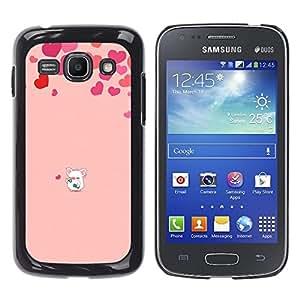 TopCaseStore / la caja del caucho duro de la cubierta de protección de la piel - Love Cute Pig Heart Pink - Samsung Galaxy Ace 3 GT-S7270 GT-S7275 GT-S7272