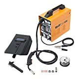 Wolf MIG130 Portable Turbo Mig Welder 230v DC No Gas Welding - Incs Mini Spool Flux Cored Mig Wire, 0.6/0.8 Roller, Tips - 2 Year Warranty