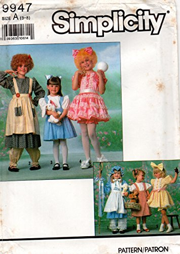 (Simplicity 9947 Girls Storybook Costumes Sewing Pattern Girls Size 3-8)