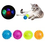 NNDA CO Dog Puppy Cat Pet Led Whistle Squeaker Rubber Chew Ball Toy 1pc,Rubber