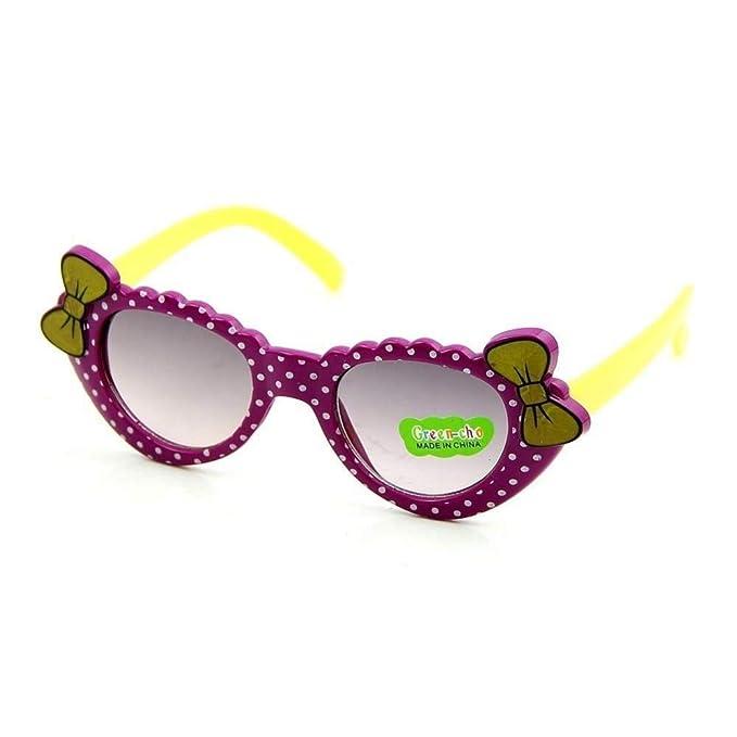 Gafas De Sol Lindo Bebé Niños Niñas Gafas Polka Dot Cristal ...