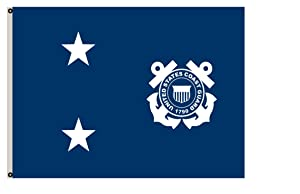 Fyon Uniformed Services Banner a Coast Guard Rear Admiral Flag 8x12inch