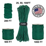 100 feet of paracord in grey - GOLBERG 750lb Paracord / Parachute Cord – US Military Grade – Authentic Mil-Spec Type IV 750 lb Tensile Strength Strong Paracord – Mil-C-5040-H – 100% Nylon – Made in USA