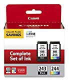 Canon PG-243/ CL-244 Ink Multi Pack, Compatible to TR4520, MX492, MG2520, MG2922, TS302 and TS202 Printers