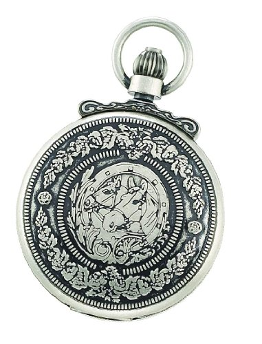 Charles-Hubert, Paris 3865-S Classic Collection Antiqued Finish Hunter Case Mechanical Pocket Watch by Charles-Hubert, Paris