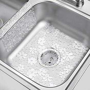 Mdesign Decorative Kitchen Plastic Sink Protector Floor