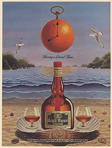 1987 Grand Marnier Liqueur Having a Grand Time Beach Print Ad (69299) (Grand Marnier Liqueur)