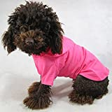 #3: Pet Apparel Dog Clothing Blank T-shirt Tee Shirts Hoodies For Small Size Dogs Summer Spring Pet Clothes 100% Cotton DTBH-07WMRB (M, Magenta)