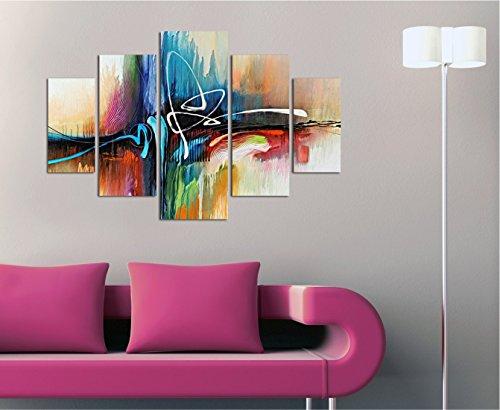 Mdf Panels Decorative (LaModaHome Decorative 100% MDF Wall Art 5 Panels (36