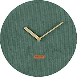 Karlsson Wall Clock, Corduroy, Green, One Size