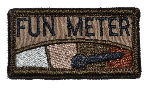 Fun Meter is Pegged 1x2 Morale Patch - Coyote Brown