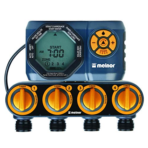 Melnor 15440-HDC Digital 4-Zone Water Timer, 4 Zone, 4 Zone (Best Timer For Water Hose)