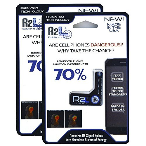 Antiradiation Cell Phone - R2L Anti-Radiation Chip for Cell Phones - 2 Pack - EMF and EMR Protection - Reduces Radiation by 70%