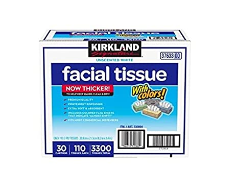 New Kirkland Signature Facial Tissue Unscented White 30 Pack