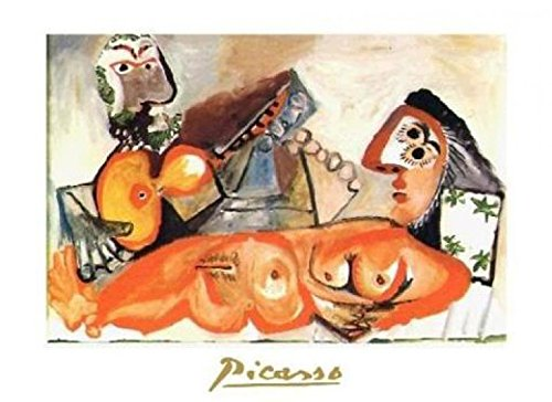Posters: Pablo Picasso Poster Art Print - Laying Nude And Musician (12 x 9 inches)