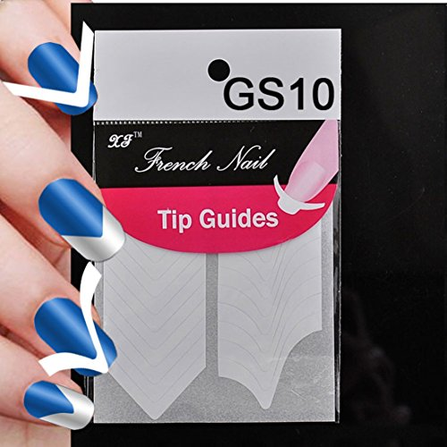 Art Tips Fashion Stencil 2 Packs Nail Stickers Style GS10 (Stencil Dabber)