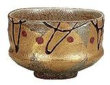 Kutani Yaki Gold Leaf Pottery 4.3inch Matcha Bowl
