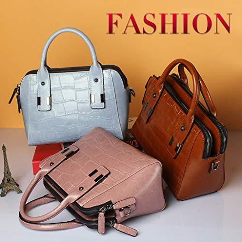 Mujeres Cuero Damas Las De Brown Moda Hombro Diagonal Tendencia Bolsos Para Paquete Fw8qR1