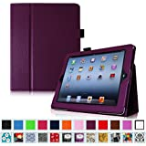 Fintie iPad 2/3/4 Case - Slim Fit Folio Case with Smart Cover Auto Sleep / Wake Feature for Apple iPad 2, the new iPad 3 & iPad 4th Generation with Retina Display, Purple