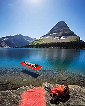 Swimming Raft Lounger Floaties Float Toy Fun Float Floating Pool Bed Mat//Pad Soft Memory Foam with Vinyl Coat and Head Pillow Outdoor Swimming Relaxing or Pool Party