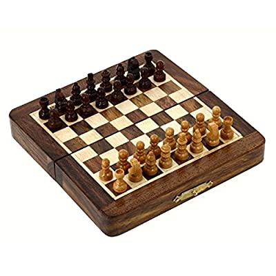 Mothers Day Deals!! Gifts for Kids & Adults Magnetic Folding Chess Board Travel Game Set Dimesion 7 Inches