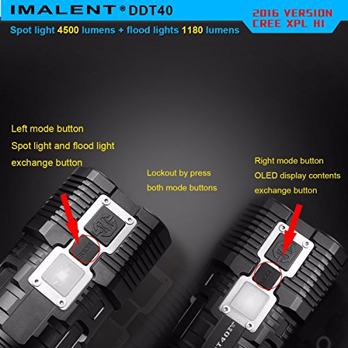 IMALENT DDT40 4500 Lumens +1180 Lumens Handheld LED Flashlight Powered Tactical Flashlight for Camping Hiking (The item can be delivered within 10 days) by IMALENT (Image #2)