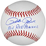 Pete Rose Cincinnati Reds Autographed Baseball with Big Red Machine Inscription - Memories - Mounted Memories Certified