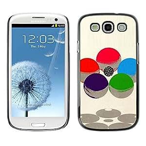 rígido protector delgado Shell Prima Delgada Casa Carcasa Funda Case Bandera Cover Armor para Samsung Galaxy S3 I9300 /Abstract Sphere Sci Fi Atom Nucleus/ STRONG