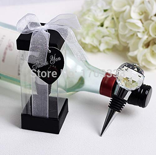 Wine Bottle Stopper Personalized Creative Crystal Ball Metal Wine Bottle Stopper Wedding Favors And Gifts - Holiday Joie Fun Pretty Quartz Elegant Moose And Elephant - Base Moose A/c
