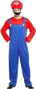 KIRALOVE Disfraz de Super Mario Bros - Videojuegos - Disfraces ...