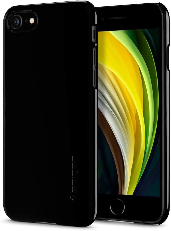 Spigen Thin Fit Designed for Apple iPhone SE 2020 Case/Designed for iPhone 8 Case (2017) / Designed for iPhone 7 Case (2016) - Jet Black