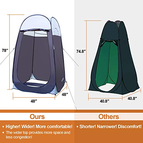 Leader Accessories Pop Up Shower Tent Dressing Changing Tent Pod Toilet Tent 4 x 4 x 78 H Big Size