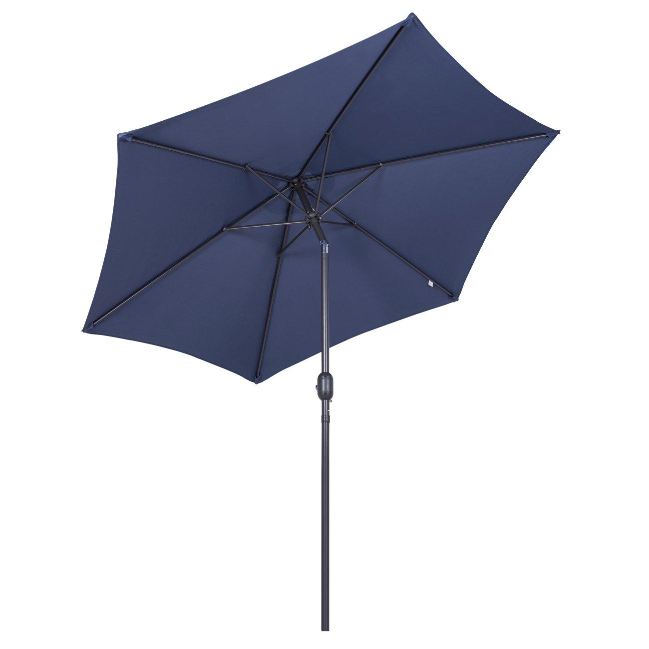 Crema Sekey/® sombrilla Parasol para terraza jard/ín Playa Piscina Patio di/ámetro 270 cm Protector Solar UV50