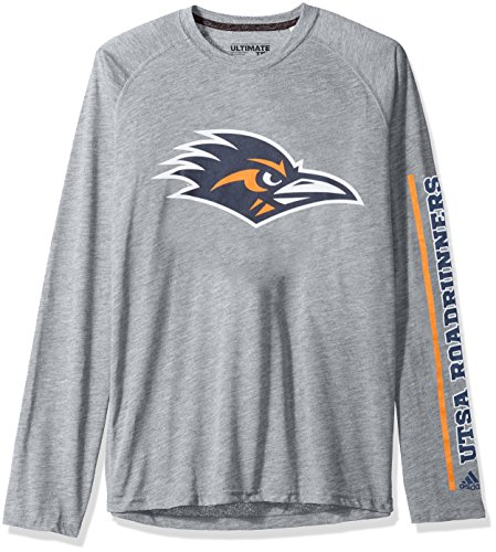 Ultimate College Sports Fan (NCAA Texas San Antonio Roadrunners Adult Men sleeve Play Ultimate L/S Tee, Small, Medium Grey Heather)