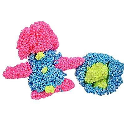 JA-RU STYRO Putty Foam Glows in The Dark (Pack of 24) Styrofoam Shapable Soft and Squishy | Item #1328-24: Toys & Games